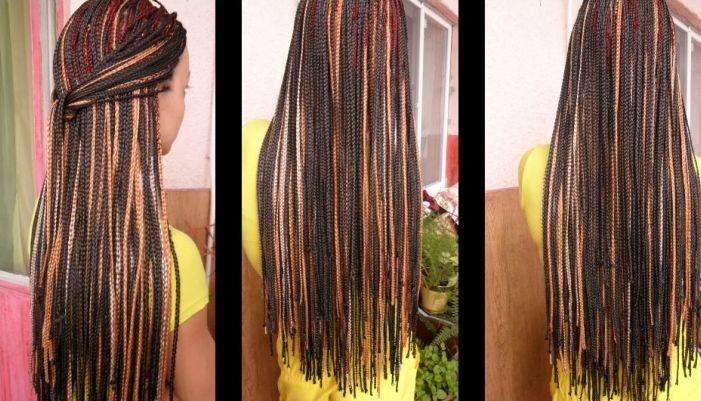 Афрокосички из канекалона как плетения